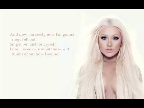 Christina Aguilera - Sing For Me (with lyrics)