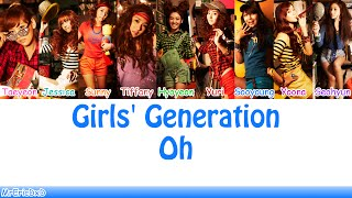 Gambar cover Girls' Generation (소녀시대): Oh! (오!) Lyrics