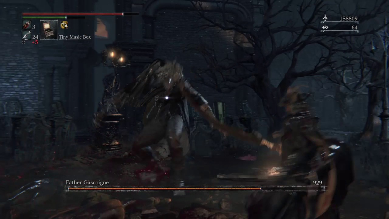 Bloodborne Father Gascoigne (Beast Form) Bossfight #2 - YouTube