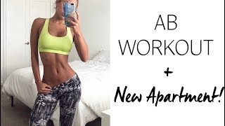 8 Minute Small Waist Exercises | FIRST workout in NEW MIAMI BEACH APARTMENT