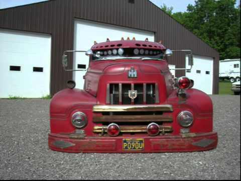 Chopped 1954 International Fire Truck Rat Rod Air Bagged
