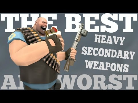 The Best and Worst: TF2 Heavy Secondary Weapons