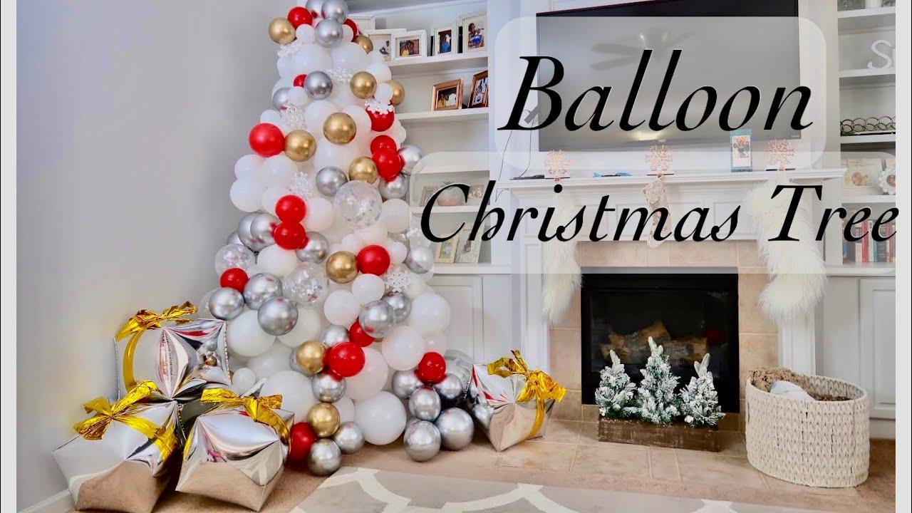 Organic Balloon Christmas Tree Tutorial | Decorate | Easy ...
