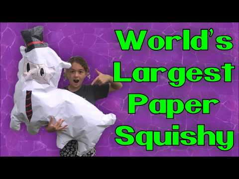 World's Largest Paper Squishy (Giant Paper Squishy) DIY