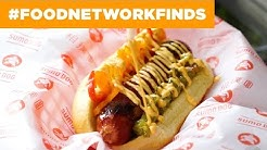 Foot-Long Hot Dogs at Sumo Dog | Food Network