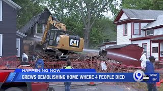 Fitch Street home finally demolished