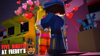 Minecraft: FIVE NIGHTS AT FREDDY'S #94 - A CHICA ME BEIJOU!!!