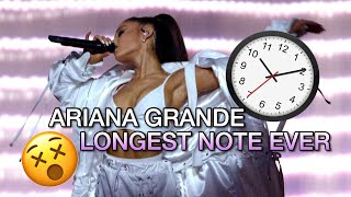 ARIANA GRANDE BREAKS RECORD WITH LONGEST NOTE EVER!!