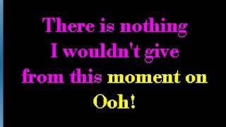 Shania Twain   From this moment   KARAOKE
