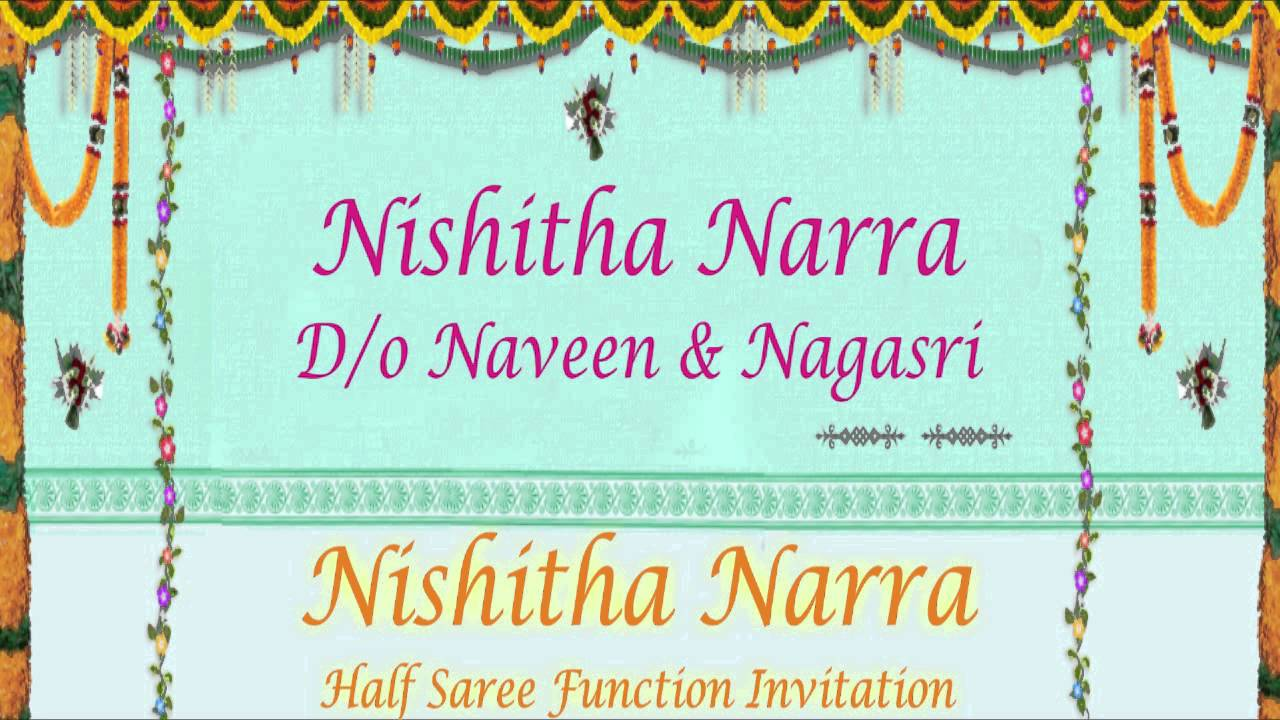 Nishitha Half Saree Function Video Youtube