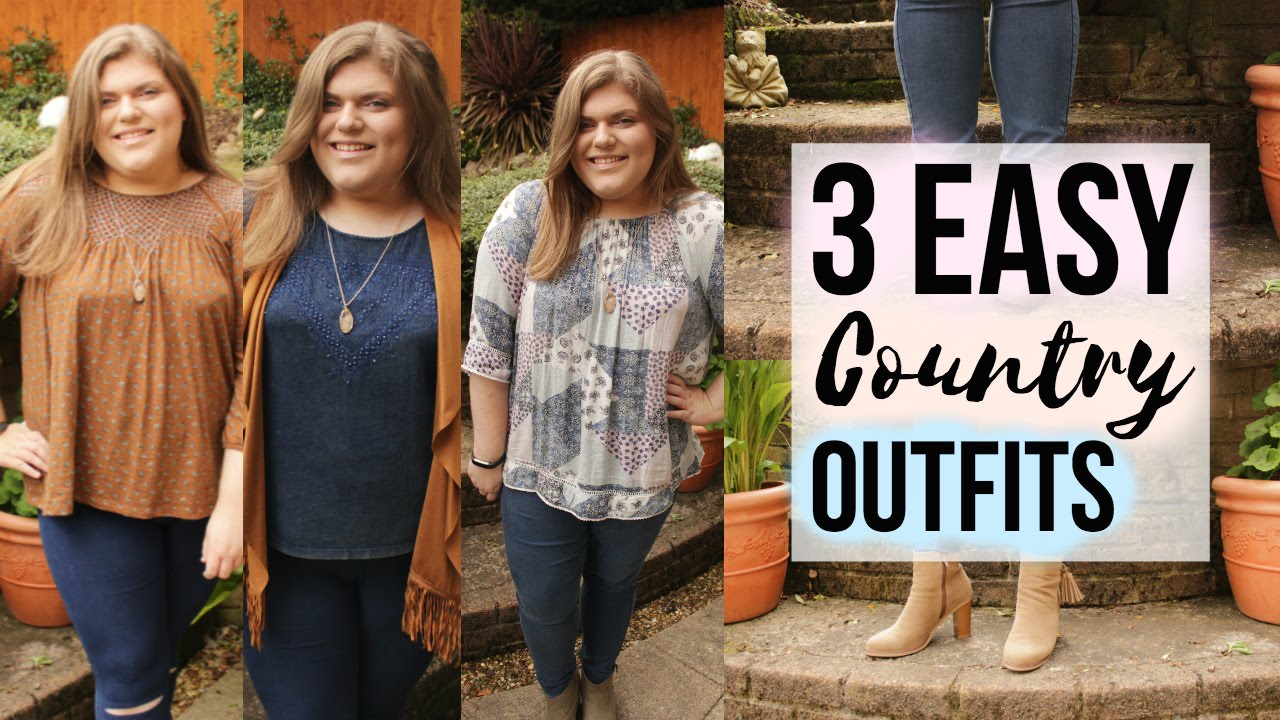 3 Easy COUNTRY Style Festival Outfits! | #AD W/ King Ranch Saddle Shop