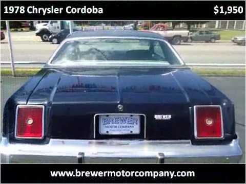 1978 chrysler cordoba used cars pulaski tn youtube for Bryan motors pulaski tn