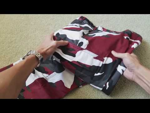 Unboxing New ROTHCO BDU Military Red Camo Pant Zumiez! 12 3 2017