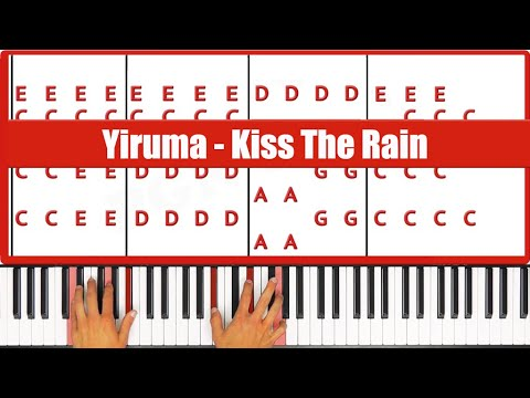 ♫ ORIGINAL - How To Play Kiss The Rain Yiruma Piano Tutorial Lesson! - PGN Piano