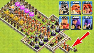 Who Can Survive This Difficult Trap on COC? Trap VS Troops #21