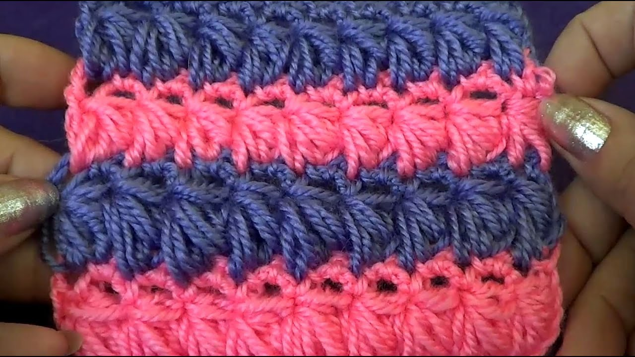 Мотивы для вязания крючком пледов 25