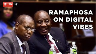 During French President Emmanuel Macron's visit to the Union Buildings, President Cyril Ramaphosa was asked by the media about the Digital Vibes scandal that allegedly involves Health Minister Zweli Mkhize.  #DigitalVibes #ZweliMkhize
