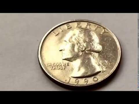 1990 D Washington Quarter US Coins Value Macro Video rare coins in circulation