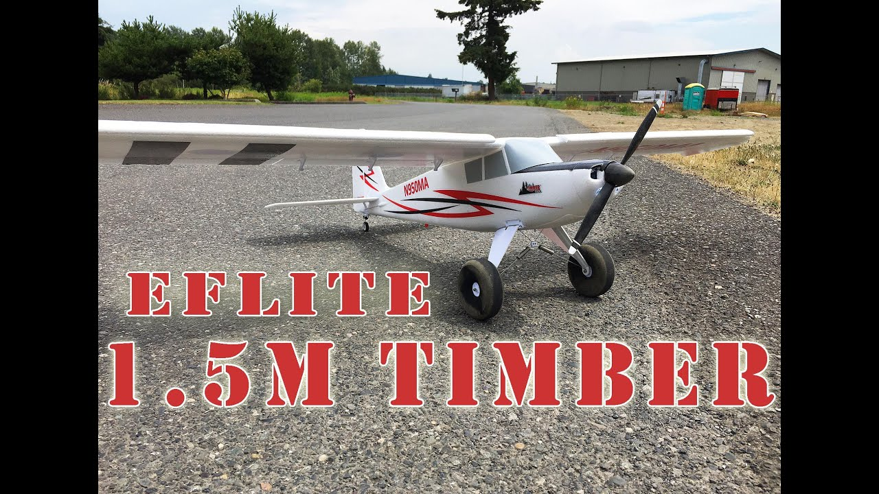 E-Flite Timber 1.5m BNF Basic STOL RC Plane with AS3X - YouTube