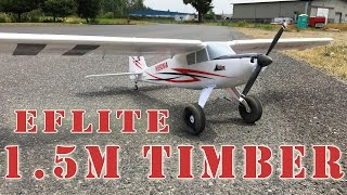 e flite timber 1 5m bnf basic stol rc plane with as3x