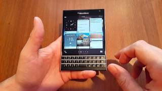 BlackBerry Passport - работа интерфейса