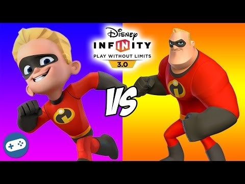 Dash VS Mr Incredible Disney Infinity 3.0 Toy Box The Incredibles Versus Fight