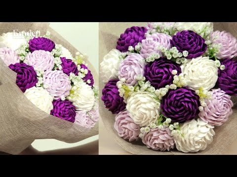 Hướng dẫn làm hoa bằng giấy nhún đơn giản