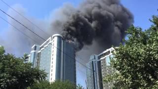 Пожар в Гагарин Плаза