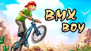 BMX Boy - Gameplay Android game - Bicycle amazing stunt game