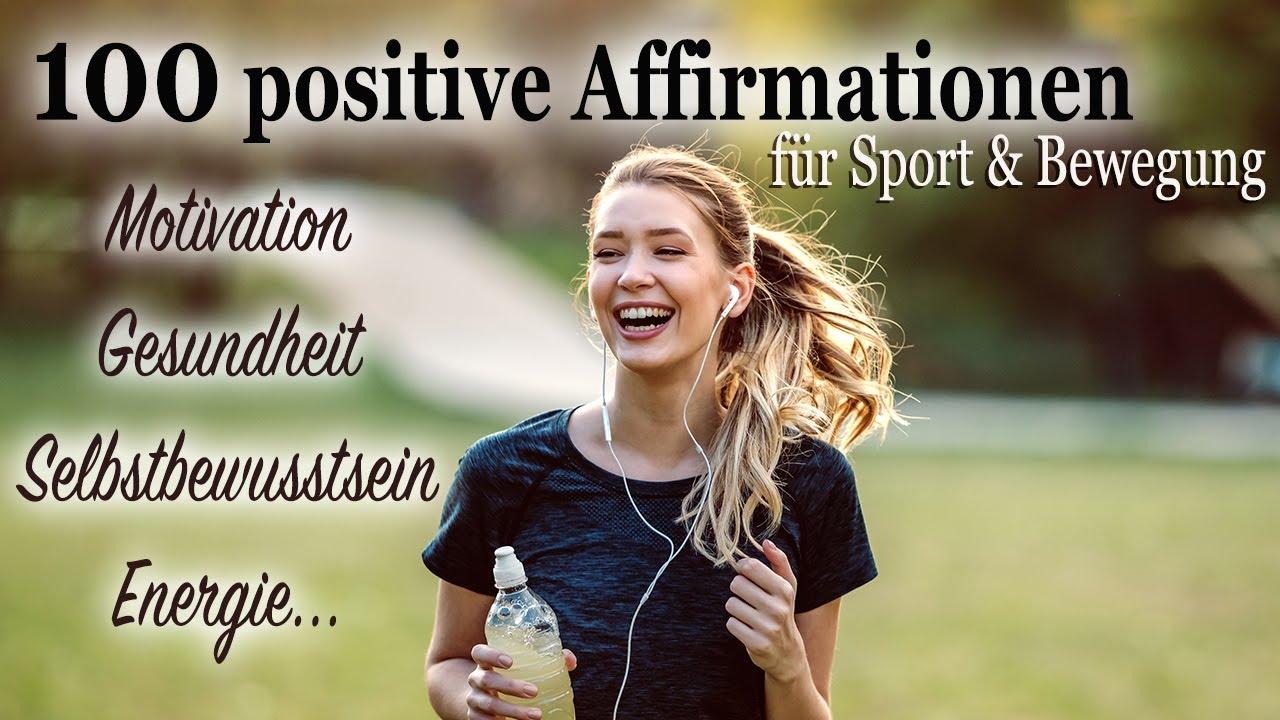 100 Affirmationen für Sport • Fitness • Workout • Bewegung ☞ MOTIVATION ☀️ GESUNDHEIT ☀️ ENERGIE ...