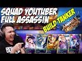 SURAM !! SQUAD YOUTUBER FULL ASSASSIN BUILD TANKER WKWKWK - Mobile Legends Indonesia #Day6