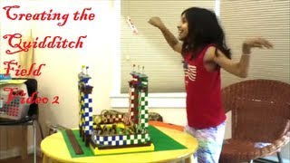 Lego - Harry Potter - Hogwarts Castle - Creating The Quidditch Field - Video 2