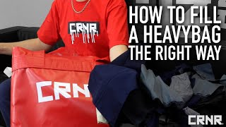 How To Fill A Heąvy Bag The Right Way | Combat Corner Professional