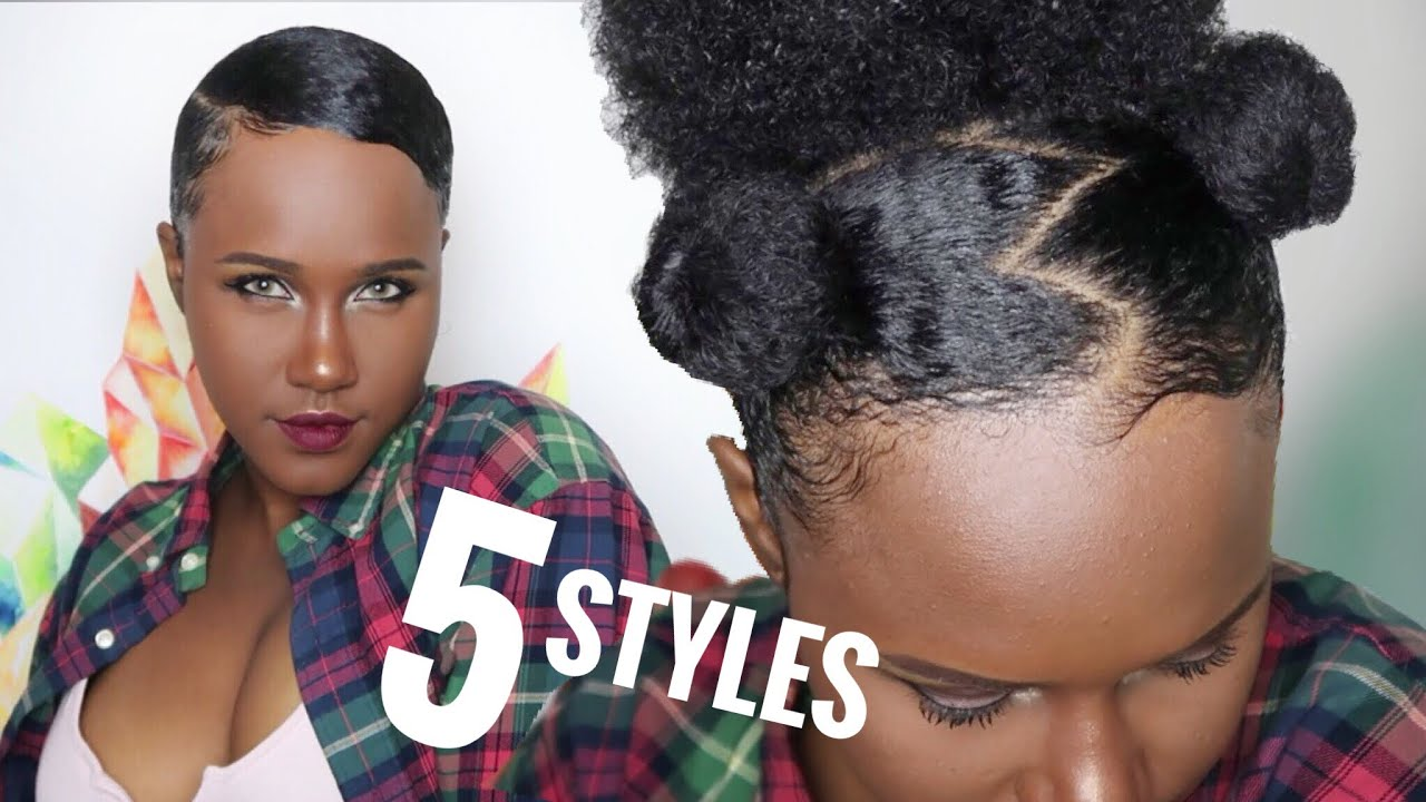 5 Quick Cute Natural Hairstyles On 4a 4b Hair No Heat Youtube