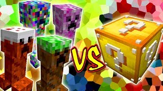 CREEPERS COM PODERES VS. LUCKY BLOCK (MINECRAFT LUCKY BLOCK CHALLENGE ELEMENTAL CREEPER)