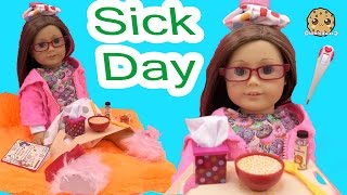 Sick Day - Get Well American Girl Doll with Our Generation Under the Weather Care Set