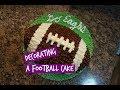 HOW TO MAKE A NFL FOOTBALL CAKE | Super Bowl 2018