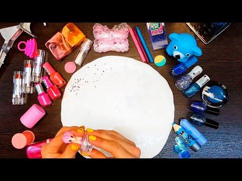 Pink vs Blue Into White Slime | SLIME VS GRINDER |