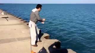 Power line fishing Chicago montrose