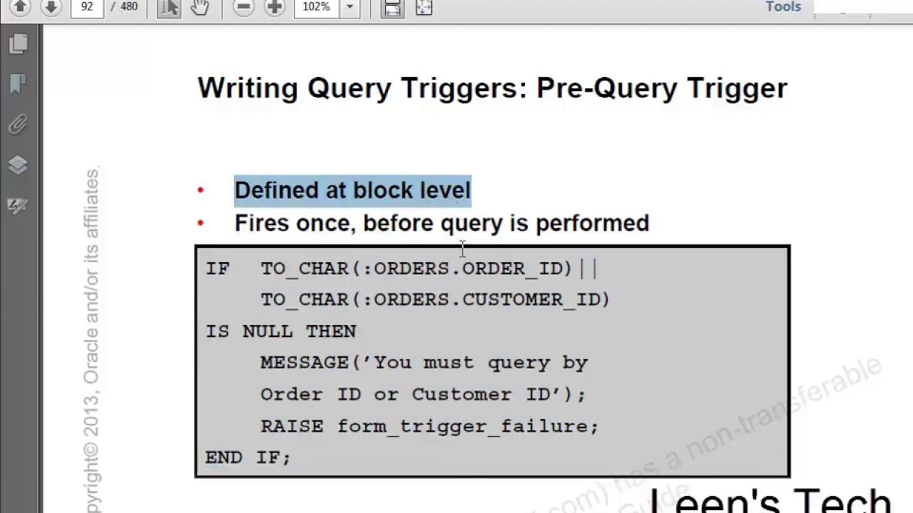 Oracle Forms 10g Tutorial in Bangla: Pre Query Trigger