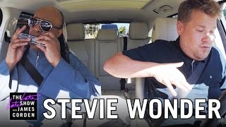 Stevie Wonder Carpool Karaoke(James and music icon Stevie Wonder carpool through Los Angeles singing some of his classic songs and Stevie suggests he and James start a group called the ..., 2015-09-15T07:47:19.000Z)