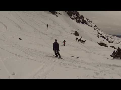 Snowboarding at Mt Field, Tasmania. Sep 2017