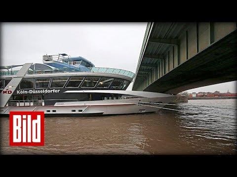 Hochwasser-Alarm in Köln - Schutzmaßnahmen am Rhein laufen