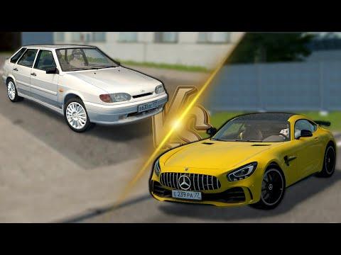 ЧТО ВЫБЕРЕШЬ ТЫ? ВАЗ-2114 1.6 MT ТУРБО/MERCEDES-BENZ AMG GT - City Car Driving [1.5.9.2]