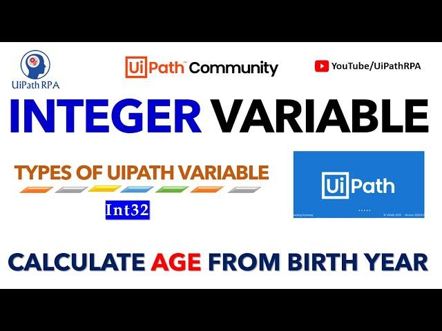 UiPath Integer Variable | UiPath Number Variable | Types of UiPath Variable | UiPath RPA