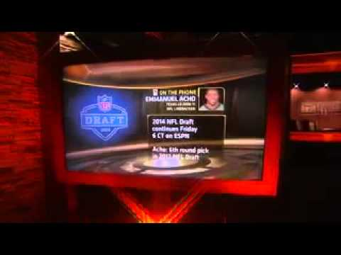 Acho on NFL Draft Day Experience