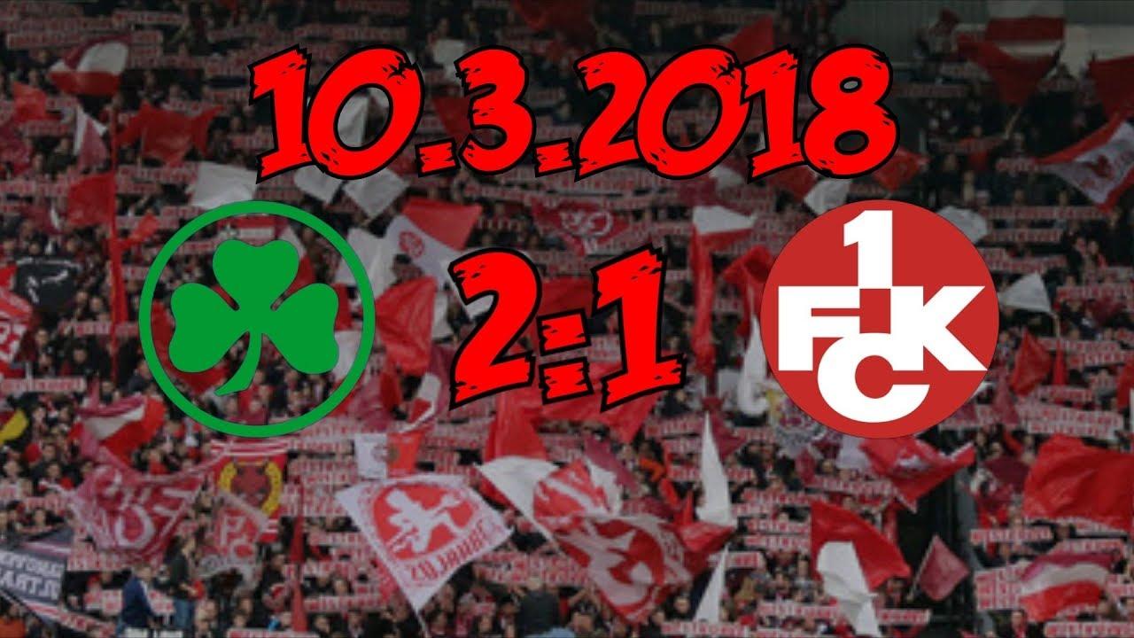 Download SpVgg Greuter Fürth 2:1 1. FC Kaiserslautern - 10.03.2018 - Trotzdem: #merpaggens