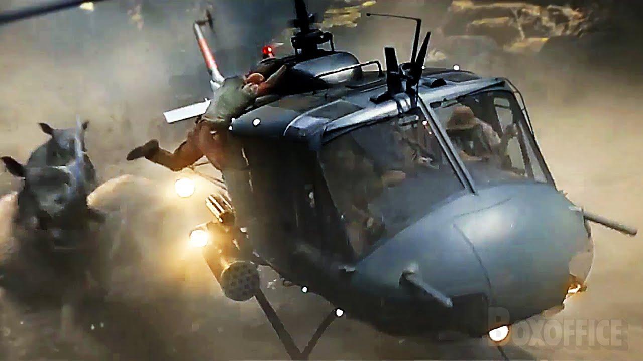 Rhinos VS Chopper | Jumanji: Welcome to the Jungle | CLIP