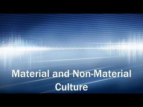 material and nonmaterial culture examples