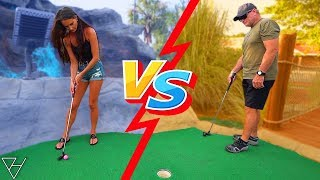 Boys vs Girls Mini Golf Competition! - Lucky Hole in Ones and More!
